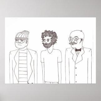 large beards print