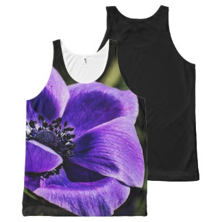 Large beautiful flower on the front of a tank top. All-Over print tank top