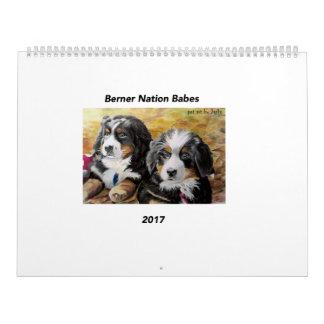 Large Berner Nation Babes 2017 calender Calendar