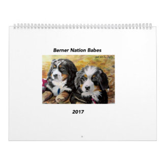 Large Berner Nation Babes 2017 calender Calendar