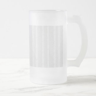 Large Birch Bark Trees Frosted Glass Beer Mug