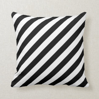 Large Black and White Stripes Reversible Pillows