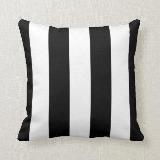 Large Black and White Stripes Reversible Throw Pillows