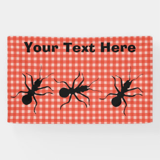 Large Black Ants Marching Fun Picnic Tablecloth Banner