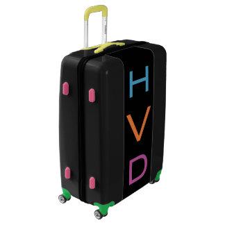 LARGE Black Colorful Monogrammed Luggage