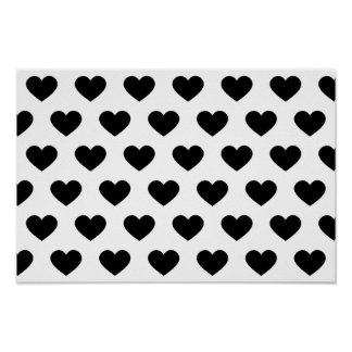 Large Black Heart -Monogram Print