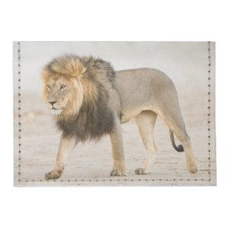 Large Black Maned Lion (Panthera Leo) Walks Tyvek® Card Wallet