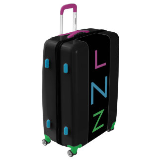 LARGE Black+Purple+Blue+Green Monogram Luggage