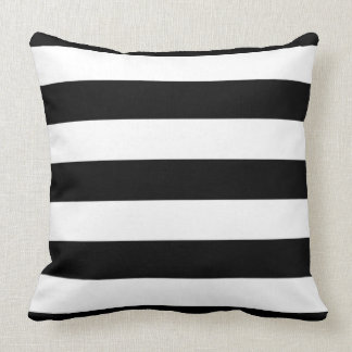 large black stripes throw pillow