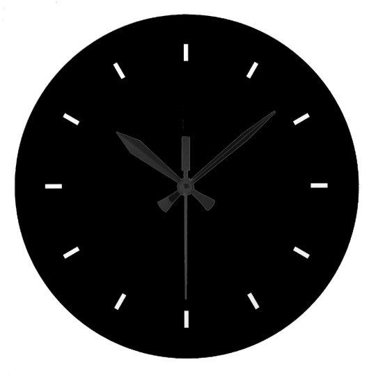 Large Black Wall Clock (Round)