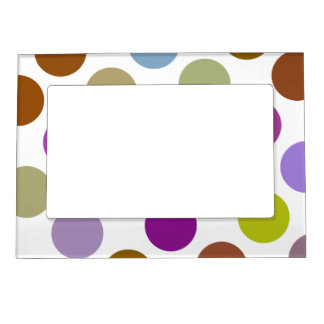 Large Blue And Brown Dots Magnetic Frame