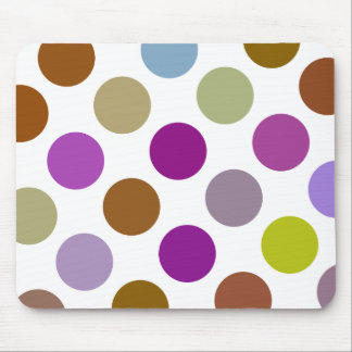 Large Blue And Brown Dots Mouse Pad