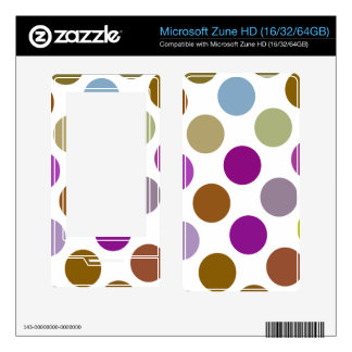Large Blue And Brown Dots Decal For Zune HD