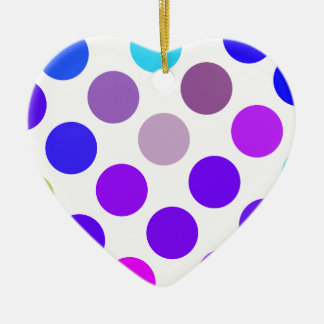 Large Blue And Purple Dots Christmas Tree Ornaments