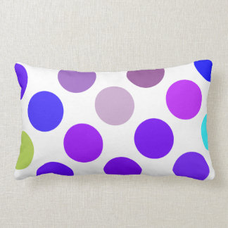 Large Blue And Purple Dots Throw Pillow