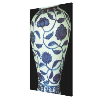 Large blue and white vase, Jaijing Period Canvas Print
