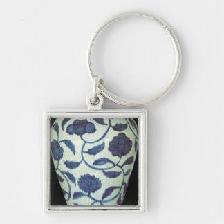 Large blue and white vase, Jaijing Period Keychain
