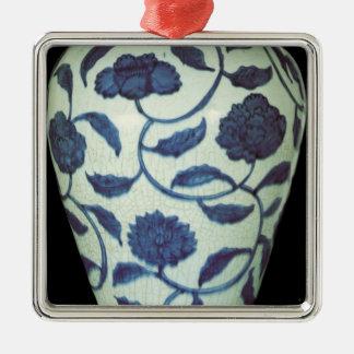 Large blue and white vase, Jaijing Period Metal Ornament