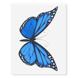 Large Blue Butterfly by temporarytat Temporary Tattoos