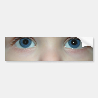 Large blue child eyes bumper sticker