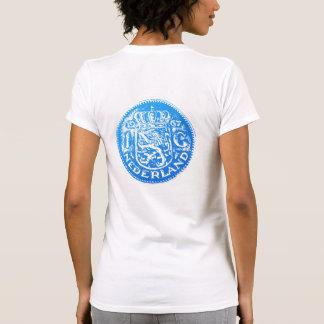 Large blue Gulden symbol & blue 1 Gulden back T-Shirt