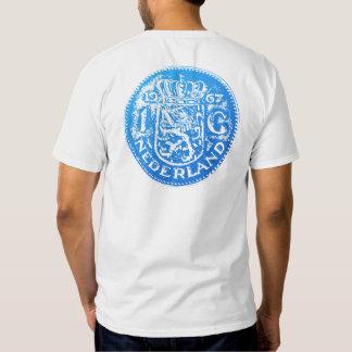 Large blue Gulden symbol & One Gulden back T-Shirt