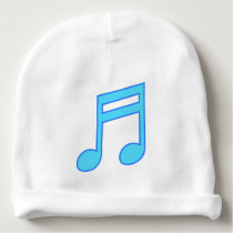 Large Blue Musical Note Baby Beanie