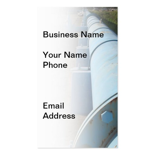 Large Blue Oil Pipeline Double-Sided Standard Business Cards (Pack Of 100)