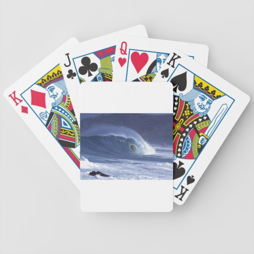 Large blue surf wave Sumba Deck Of Cards