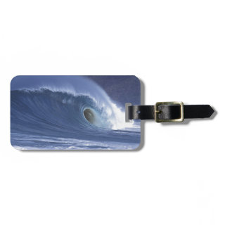 Large blue surf wave Sumba Tag For Bags