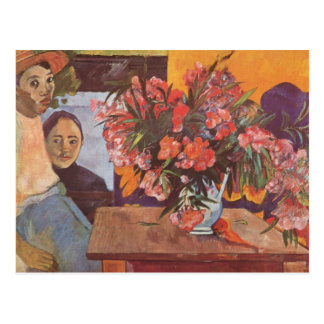 Large bouquet of Tahitian children - Paul Gauguin Postcard