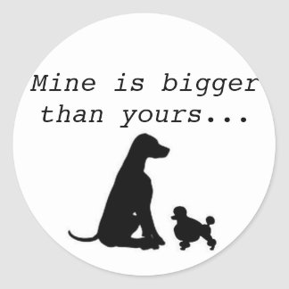 Large Breed Lover Classic Round Sticker