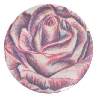 Large Briar Rose Melamine Plate