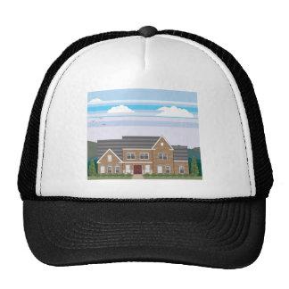 Large Brick house with landscape stylized Trucker Hat
