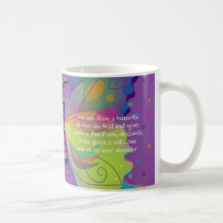 Large & Bright Butterfly with Poem Coffee Mug