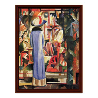 Large Bright Showcase By Macke August Postcards