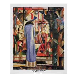 Large Bright Showcase By Macke August Poster