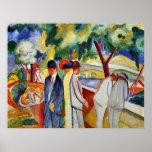 Large bright walk by August Macke Print