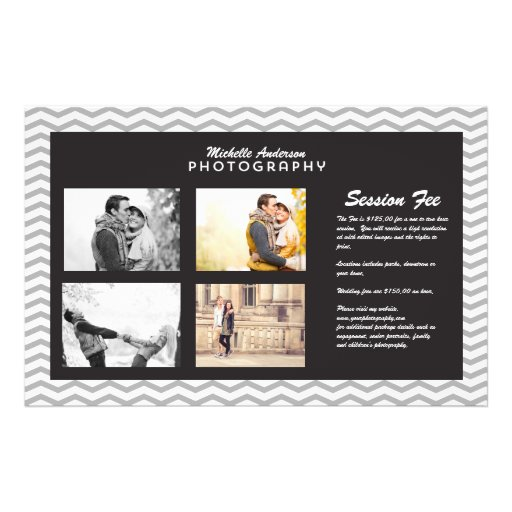 Large Brochure for Photography Business Flyer Design