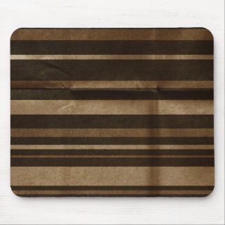 Large Brown Stripes Creased Mouse Pad