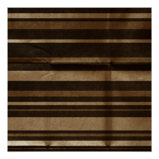 Large Brown Stripes Creased Poster
