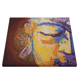 Large Buddha Face Canvas Print