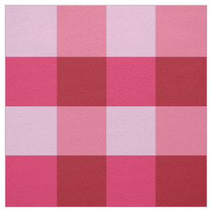 Large Buffalo Check Strawberry Pink And Red Fabric
