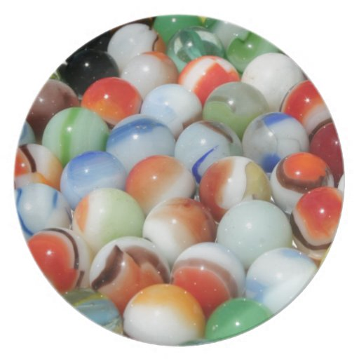 Large Bunch of Marbles Plates
