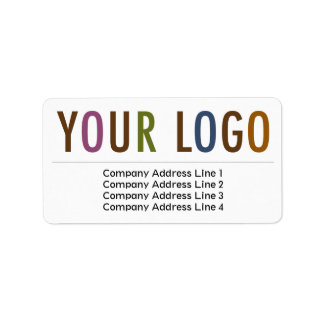 Address labels zazzle for Business logo return address labels