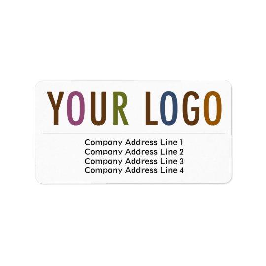 Large Business Return Address Labels Custom Logo  Large Mailing Labels