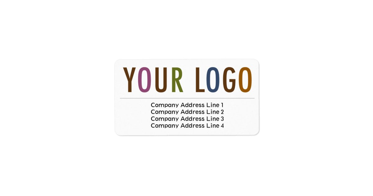 Large business return address labels custom logo zazzlecom for Business logo return address labels