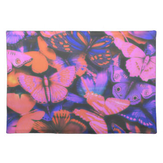 large butterflies, pink, blue place mat