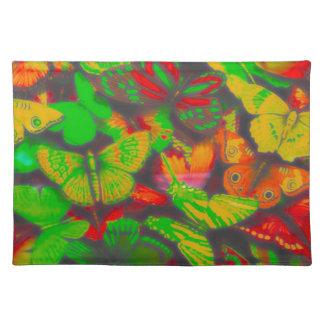 large butterflies, red, place mats