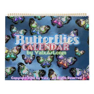 Large Butterfly Flutterby in Valxart 2011 calendar